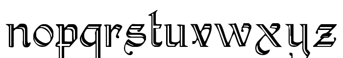 KellyAnnGothic Regular Font LOWERCASE