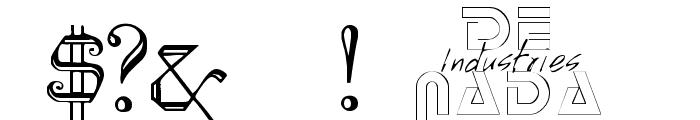 KellyAnnGothic Font OTHER CHARS