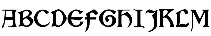 Kelmscott Regular Font UPPERCASE