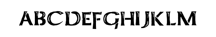 Kelt Caps Freehand Font LOWERCASE
