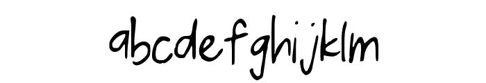 KelvinPrint Font LOWERCASE