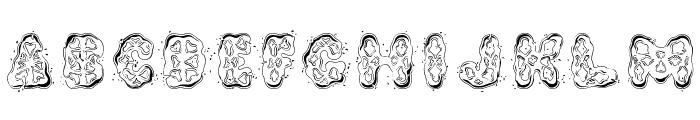 Kembang Goyang Font UPPERCASE