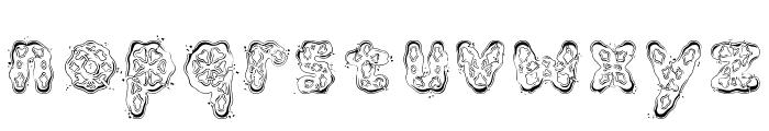 Kembang Goyang Font LOWERCASE