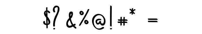 Kempton Handwritting Font OTHER CHARS