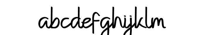 Kempton Handwritting Font LOWERCASE