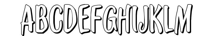 Kennebunkport 3D Regular Font UPPERCASE
