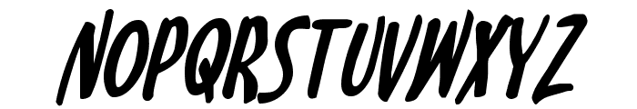 Kennebunkport Bold Italic Font UPPERCASE