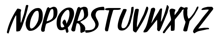 Kennebunkport Expanded Italic Font LOWERCASE