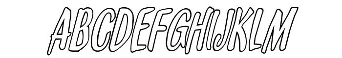 Kennebunkport Outline Italic Font UPPERCASE