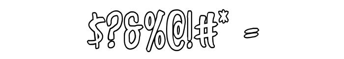 Kennebunkport Outline Regular Font OTHER CHARS