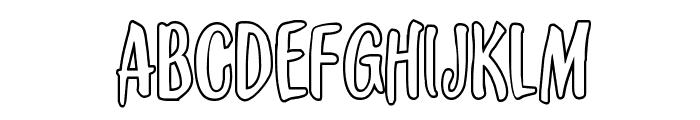 Kennebunkport Outline Regular Font LOWERCASE