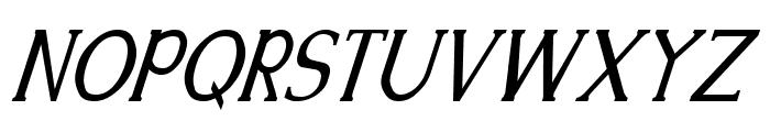 Kennon Italic Font UPPERCASE