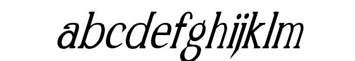 Kennon Italic Font LOWERCASE