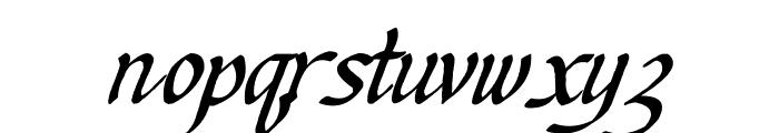 Ken's Calligraphic Font LOWERCASE