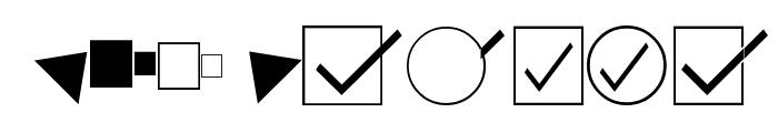 KensingtonDingbats Regular Font LOWERCASE