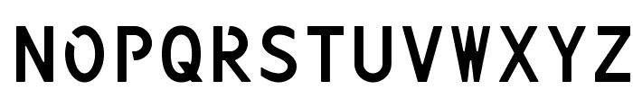 Kenteken Font UPPERCASE