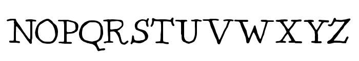 Kentucky Fireplace Font UPPERCASE