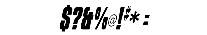 Kenyan Coffee Bold Italic Font OTHER CHARS