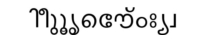 Keralax - Malayalam Font LOWERCASE