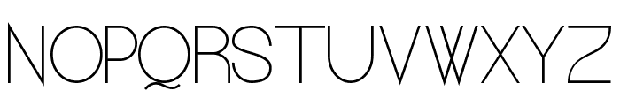 Kerater UltraLight Font UPPERCASE