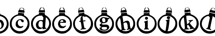 KerstKaarten Font LOWERCASE
