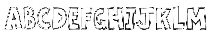 Key Tab Metal Font UPPERCASE