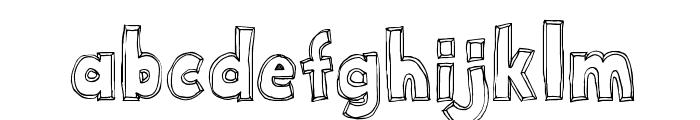 Key Tab Metal Font LOWERCASE