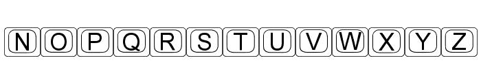 KeyTopZ Font UPPERCASE