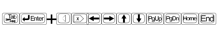 KeyTopZ Font LOWERCASE