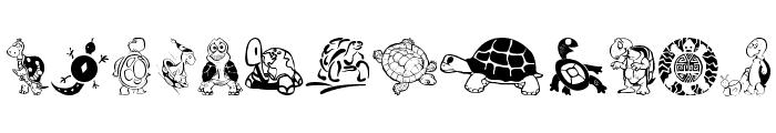 Keyas Turtles Font LOWERCASE