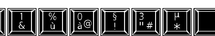 Keypad ADF No2 Font OTHER CHARS