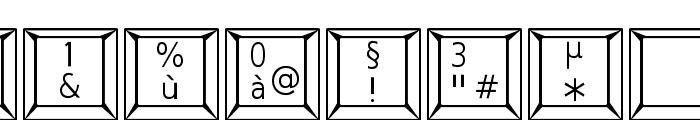 Keypad ADF Font OTHER CHARS