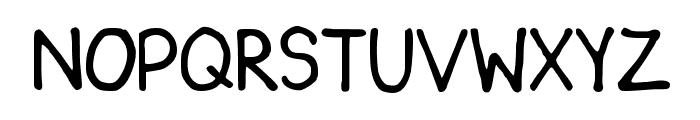 Key's comic font 1 Font UPPERCASE