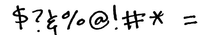 kevinandamandadotcom Font OTHER CHARS