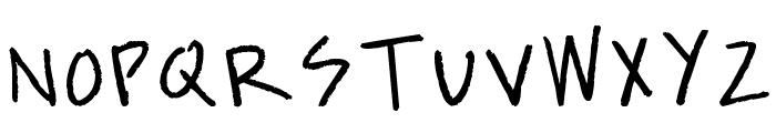 kevinandamandadotcom Font UPPERCASE