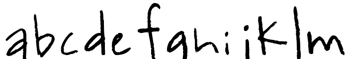 kevinandamandadotcom Font LOWERCASE