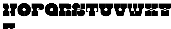 Kenwyn Single Dot Stencil Font UPPERCASE