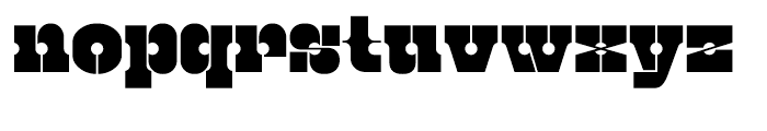 Kenwyn Single Dot Stencil Font LOWERCASE