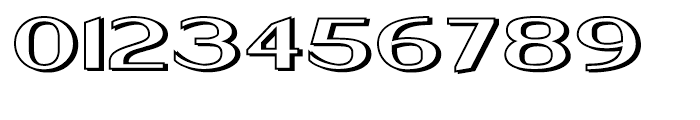 Keynsia Shadowed Regular Font OTHER CHARS