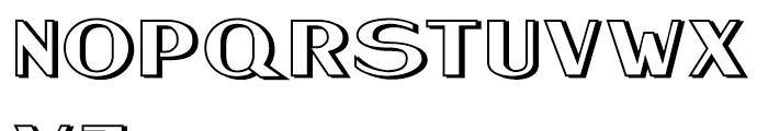 Keynsia Shadowed Regular Font UPPERCASE