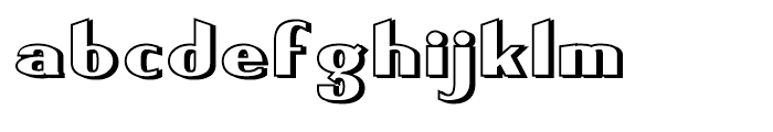 Keynsia Shadowed Regular Font LOWERCASE