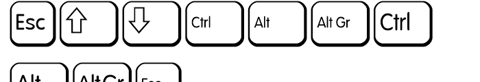 Keys PC E Alternate Font OTHER CHARS