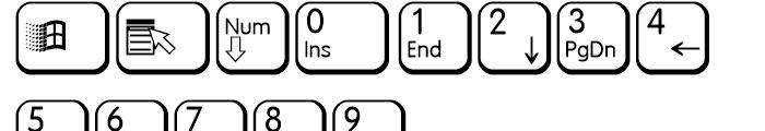 Keys PC E Alternate Font UPPERCASE