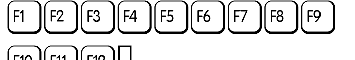 Keys PC E Alternate Font LOWERCASE