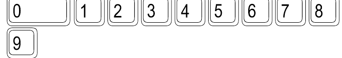 Keystrokes Extra Font OTHER CHARS