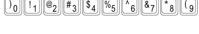 Keystrokes Regular Font OTHER CHARS