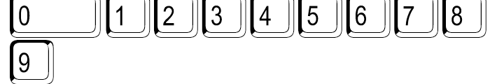Keystrokes Shadow Extra Font OTHER CHARS