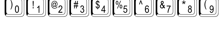 Keystrokes Shadow Font OTHER CHARS
