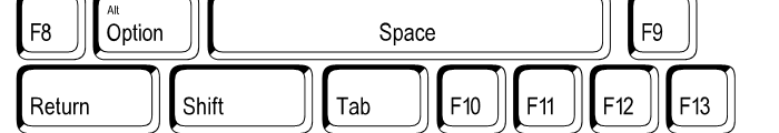 Keystrokes Shadow Font LOWERCASE
