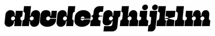 Kenwyn Single Dot Oblique Font LOWERCASE